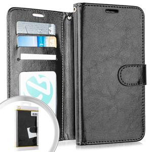 Lg K51 MM Folio Wallet Black
