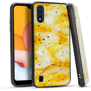 Samsung A01 MM Marble Case Gold