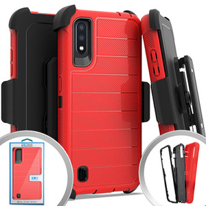 Samsung A01 MM Rugged Holster Clip Red
