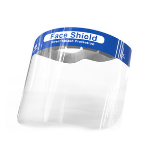 Face Shield Full Face Protect Eyes and Face Plastic Face Shield with Safety Protective Clear Film Elastic Band and Comfort Sponge Dental Face Shield for Men Women