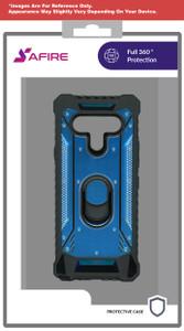 Lg Aristo 5plus Magnetic  Rugged Case Ks Navy Blue