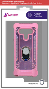 Lg Aristo 5plus Magnetic Bling Rugged Case Ks Pink