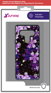 Samsung A11 MM Marble Case Purple Flower