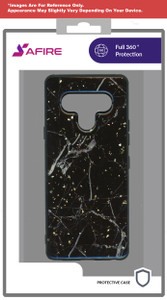 Lg Aristo 5+ MM Marble Case Black and Gold