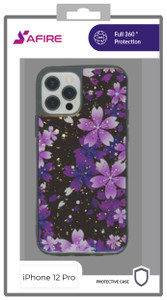 Iphone 12/12 Pro (6.1)  MM Marble Case Purple Flower