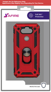 Samsung A51 5G MM Rugged Ringstand Case Red