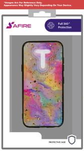 Lg Aristo 5+ MM Marble Case Rainbow