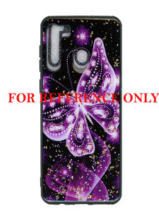 Samsung A21 MM Marble Purple Butterfly