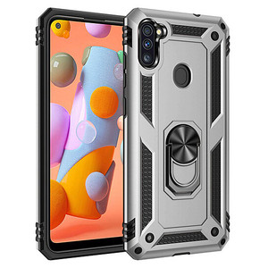 Samsung A11 MM Rugged Ringstand Case Silver