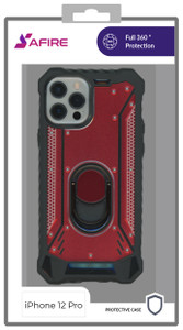 Iphone 12/12 Pro (6.1) MM Magnetic Rugged Case Red