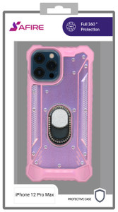 Iphone 12 Pro Max MM Magnetic Rugged Bling Case Pink