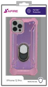 Iphone 12/12 Pro (6.1) MM Magnetic Rugged Bling Case Pink