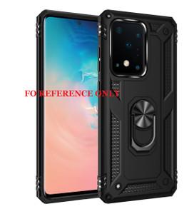 Motorola E7 2020 MM Rugged Ringstand Case Black