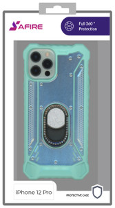 Iphone 12/12 Pro (6.1) MM Magnetic Rugged Bling Case Teal