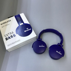 Bluetooth Extra Base Headphones Blue