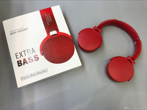 Bluetooth Extra Base Headphones Red