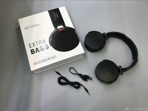 Wireless stereo headphone With Extra Bass Black