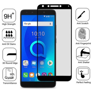 REVVL 5G MM Full Covered Tempered Glass Black