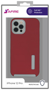 Iphone 12/12 Pro (6.1) MM Deluxe Brushed Case Red