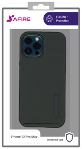 Iphone 12 Pro max (6.7) MM Deluxe Brushed Case Black