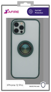 Iphone 12/12 Pro (6.1) MM Clear Magnet Ringtand Army Green