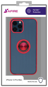Iphone 12 Pro Max  MM Clear Magnet Ringstand Red