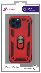 Iphone 12 Pro Max (6.7) MM Rugged Ring Stand Red