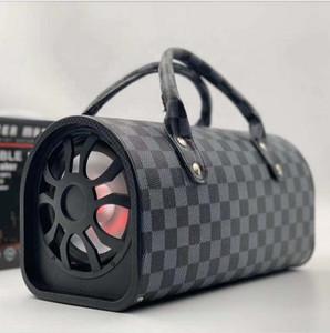 Hand Bag Design Speaker Gray Plaid