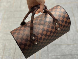 Hand Bag Design Speaker Brown Plaid