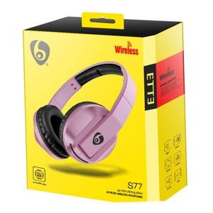 HD Music Wireless Headphone S77 Rose Gold
