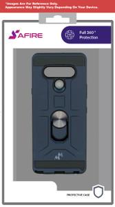 Revvl 4 MM Ringstand Case Blue