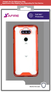 Iphone 12 Pro Max MM Clear Rugged Case Red