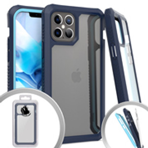 Iphone 12 Pro Max MM Clear Rugged Case Navy