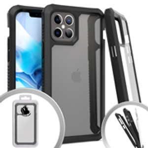 Iphone 12 Pro Max MM Clear Rugged Case Black