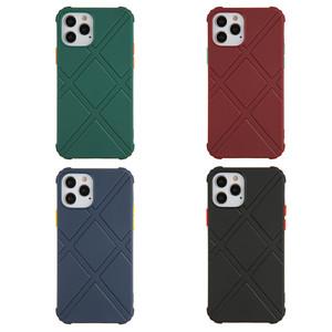 Iphone 12 Pro Max 6.7 MM Rhombus Armor Phone Case Red