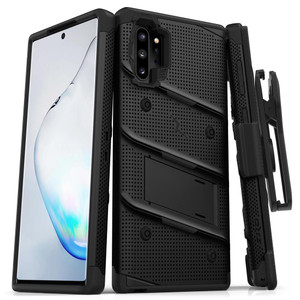 Samsung Note 10 Pro/Plus Zizo Bolt Series Case W Clip Black