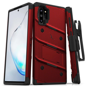 Samsung Note 10 Pro/Plus Zizo Bolt Series Case W Clip Red