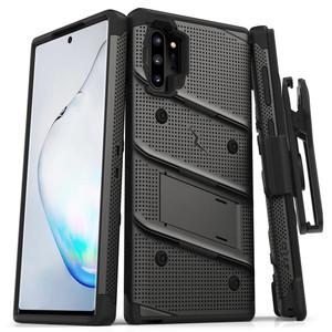 Samsung Note 10 Pro/Plus Zizo Bolt Series Case W Clip Gray & Black