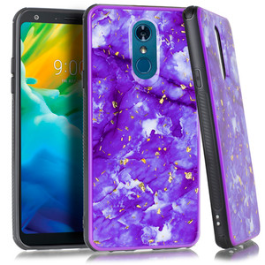 Samsung S20 MM Marble Chrome Purple Case