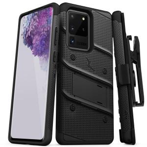 Samsung S20 Zizo Bolt Series Case W Clip Black