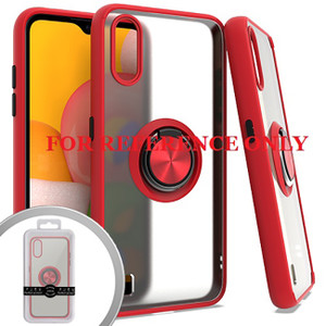 Samsung Note 20 MM Clear Magnet Ring Stand Case Red