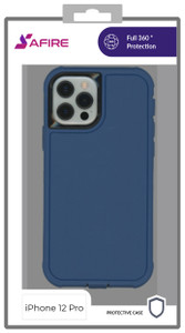 iPhone 12/12 Pro (6.1) MM Rugged W/ Holster Navy