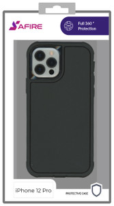 iPhone 12/12 Pro (6.1) MM Rugged W/ Holster Black