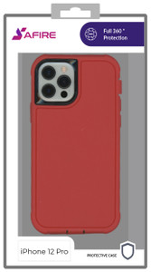 iPhone 12/12 Pro (6.1) MM Rugged W/ Holster Red