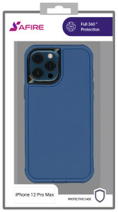 iPhone 12 Pro Max (6.7) MM Rugged case W/ clip Navy
