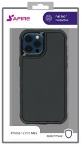 iPhone 12 Pro Max MM Rugged case W/ clip Black