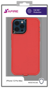 iPhone 12 Pro Max (6.7) MM Rugged case W/ clip Red