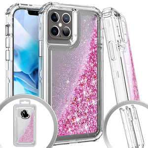 Iphone 12/12 Pro (6.1) MM Water Glitter Hybrid Case Rose Gold