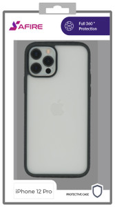 Iphone 12/12 Pro (6.1) MM Clear Rugged Case Black