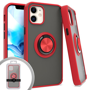 Iphone 12 Mini (5.4) MM Magnet Ringstand Case Red